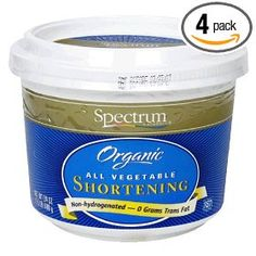 Spectrum Naturals Organic Shortening, All Vegetable, 24-Ounce Containers (Pack of 4) $25.99