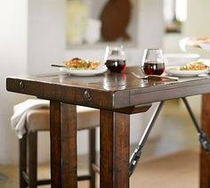 Benchwright Bar-Height Table #potterybarn