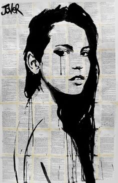 "Saatchi Online Artist Loui Jover; Drawing, ""storm"" #art. I like the background because it isn't as pure as if it were to be drawn on a white piece of paper, and it gives the piece more depth."