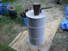 post anvil set in concrete, more pictures of how its made on site