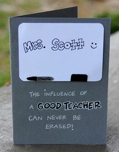 Permanent Impact- Personalized Teacher Appreciation Card by thepaperhugfactory on Etsy https://www.etsy.com/listing/288999573/permanent-impact-personalized-teacher  Teacher card Teacher appreciation card Card for teacher Dry erase board