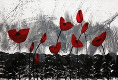 Black White Red Poppy – Suzie Cappa Art Center