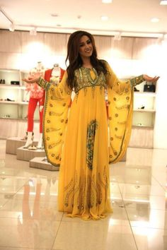 pretty yellow kurdish dress