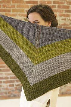 Red heart® soft essentials™ textured triangle knit shawl