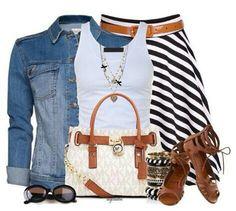 Inspiration: stripe skirt