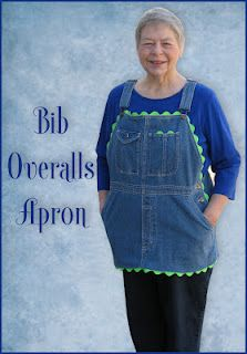 Apron Tutorial Using Denim Bib Overalls