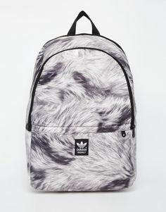 adidas Originals Backpack in Fur Print