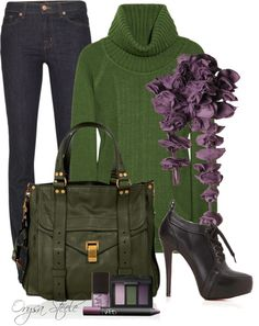 """Plum And Olive"" by orysa on Polyvore"