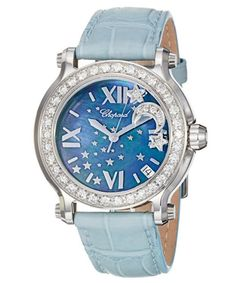 Chopard Women's Happy Sport Round Blue MOP with Floating