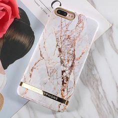 Luxury Marble Frame Theme Protective Case for iPhone 7, iPhone 8, 8Plus, iPhone X, XS Max and iPhone XR - Style 1 / For iPhone XS