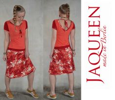 Kleid rot Jersey von Jaqueen auf DaWanda.com