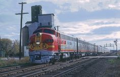 https://flic.kr/p/zCoCen   ATSF F7A 307C with Train 2, the San Francisco Chief roaring through Romeo, Ill. on October 16, 1966   A Roger Puta photograph
