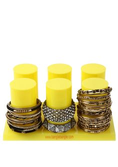 I need jewelry storage........AMRITA SINGH Six-Tower Bangle Holder