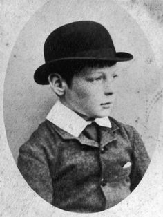 Winston Churchill pictured as a child and wearing a bowler hat -- Photographic Print