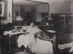 "The photo was taken in 1910. It's the last photograph taken of Florence Nightingale. (It's rare: she was reluctant throughout her life to be photographed.) It shows 90 year old Florence in her bedroom at her home in London. The photo was taken by Lizzie Caswall Smith. On the back of the photo Smith wrote, ""Taken just before she died, house near Park Lane. The only photograph I ever took out of studio. I shall never forget the experience."""