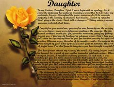 poams for my douter | Daughter Poems - Personalized Love Poems