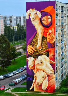 in Lodz, Poland, by Chilean street artist INTI. #inti http://www.widewalls.ch/artist/inti/