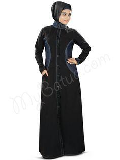 Denim Maahnoor Abaya   MyBatua   http://www.mybatua.com/womens/abaya