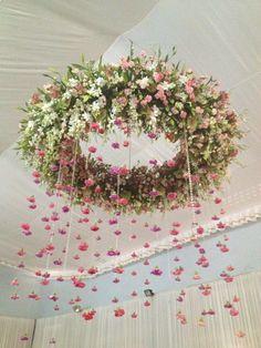 DIY - Faça você mesmo - Como fazer um Lustre Floral Suspenso #weddingdecoration