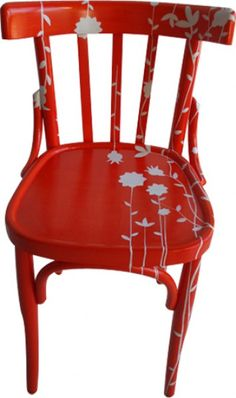 red&white.quenalbertini: Sedia Dipinta Arancione