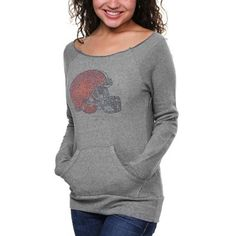 Women's Cleveland Browns Historic Logo Black Sublime Knit Hoodie