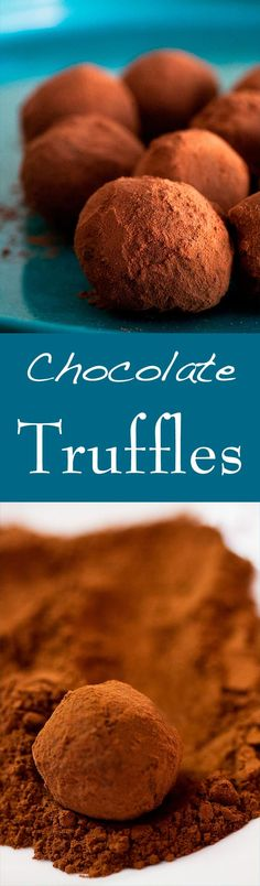 Chocolate Truffles are EASY to make! Your sweetheart will LOVE these homemade truffles. With chocolate and cream, assorted flavors, and coated with either cocoa or chopped nuts. Perfect for Valentine's Day! On SimplyRecipes.com