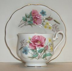Royal Albert Floral Cup and Saucer Bone China