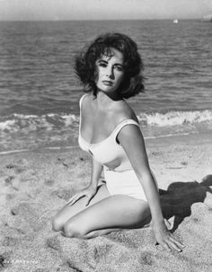 Elizabeth Taylor sur le tournage du film Suddenly, Last Summer en 1959
