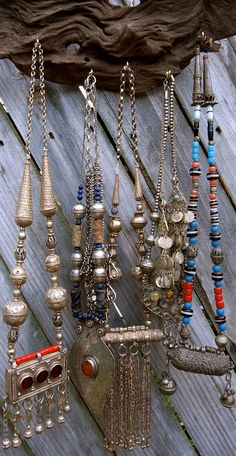 ☮ American Hippie Bohemian Style ~ Boho Jewelry .. Necklaces!