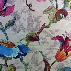 Chinoiserie fabric from calico corners