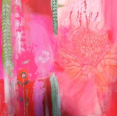 """Saatchi Art Artist: Clare Haxby; Mixed Media Painting """"Hothouse in the Tropics"""""""