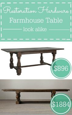 With the rustic look usually comes a hefty price tag, so check out this Restoration Hardware look alike.