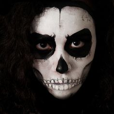 Skull - Face Painting by Nany Halloween Skull, Halloween Face Makeup, Skull Face Paint, Nyc, Cosplay, Facebook, Model, Painting