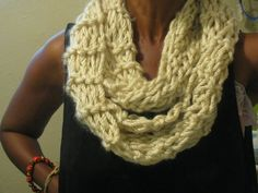 Basic cowl garther seed stitch by TaraThings on Etsy