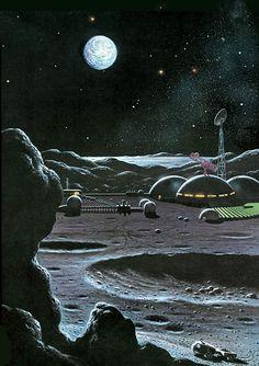 by David Hardy Arte Sci Fi, 70s Sci Fi Art, Classic Sci Fi, Alien Worlds, Science Fiction Art, Arte Pop, Fantasy Landscape, Sci Fi Fantasy, Surreal Art