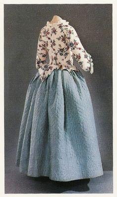 1775-85 quilted petticoat
