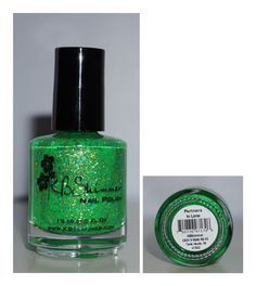 KB Shimmer Partners in Lime - Bright Green Crelly with Green Glitter Neon