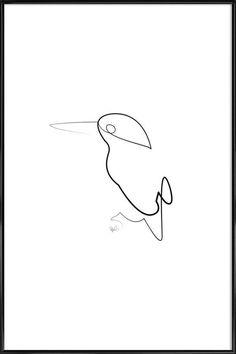 One Line Night Bird Gerahmtes Poster Jetzt bestellen unter: https://moebel.ladendirekt.de/dekoration/bilder-und-rahmen/poster/?uid=fcc6081f-05ae-5aff-a1f4-069239dad4ef&utm_source=pinterest&utm_medium=pin&utm_campaign=boards #bilder #animals #rahmen #poster #dekoration