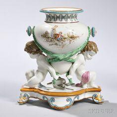 Wedgwood Émile Lessore Decorated Queen's Ware Trentham   Vase