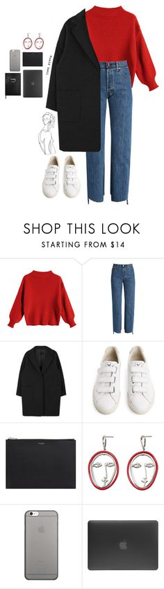"""A&A"" by joycereina ❤ liked on Polyvore featuring Vetements, Veja, Yves Saint Laurent, MANGO, Native Union, Incase and Sloane Stationery"