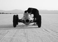 Bonneville back when nobody knew what safety was......i want this thing.