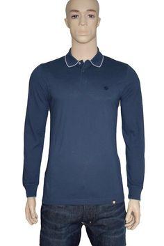 Pretty Green Barcombe Long Sleeve Polo Shirt Navy Medium BNWT Liam Gallagher #PrettyGreen #PoloShirts