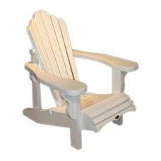 Ordinaire Adirondack Chairs Leisure Line, Back Deck/Dock Chair