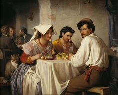 Carl Bloch (1834-90), In a Roman Osteria, 1866.