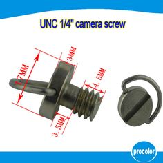 """10 pcs Retail sales camera accessories 1/4"""" UNC screw with D-ring for tripods ball head and quick release plate #Affiliate"""