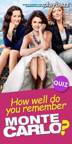 QUIZ: How well do you remember Monte Carlo? *** #PlaybuzzQuiz Movie Trivia Questions Selena Gomez Netflix Amazon Prime Disney+ Hulu Romantic Comedies Gen Z Millennials Nostalgia Playbuzz Quiz Selena Gomez Netflix, Movie Trivia Questions, Movie Facts, Playbuzz, Do You Remember, Monte Carlo, Nostalgia, Wellness, Romantic