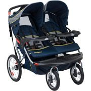 Jogging stroller that actually fits a toddler and infant carrier!  Baby Trend - Navigator Double Jogging Stroller, Riviera