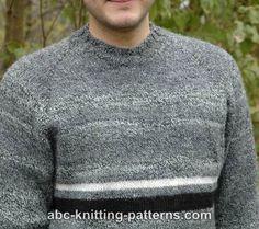 8ba31dd534ebc8 ABC Knitting Patterns - Men's Top Down Raglan Sweater . Sweater Knitting  Patterns, Knitting Charts