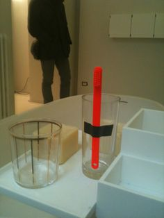Fluo tooth brush at boffi, I want one!