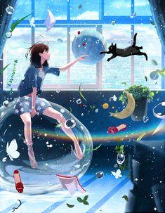 Yeshu Naam and What a Beautiful Name + Manga Anime, Film Manga, Manga Art, Aesthetic Anime, Aesthetic Art, Wallpaper Animes, Japon Illustration, Image Manga, Anime Scenery
